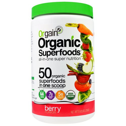 Orgain, Organic Superfoods, All-In-One Super Nutrition, Berry Flavor, 0.62 lbs (280 g) فوائد