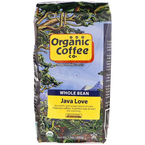 Organic Coffee Co, Java Love, Whole Bean Coffee, Regular Roast, 12 oz (340 g) فوائد