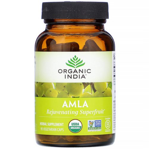 Organic India, Amla, 90 Vegetarian Caps فوائد