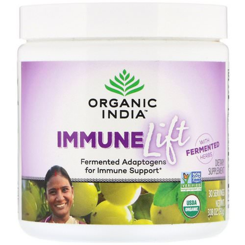 Organic India, Immune Lift, Fermented Adaptogens, 3.18 oz (90 g) فوائد