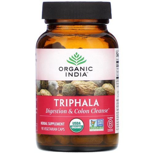Organic India, Triphala, 90 Vegetarian Caps فوائد