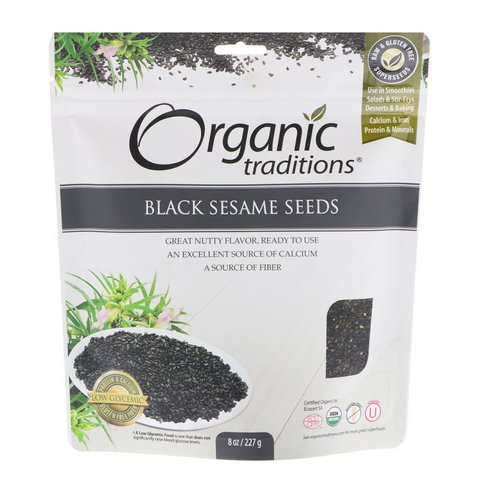 Organic Traditions, Black Sesame Seeds, 8 oz (227 g) فوائد