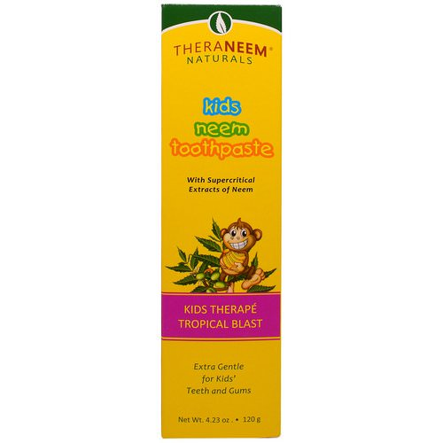 Organix South, TheraNeem Naturals, Kids Therape, Kids Neem Toothpaste, Tropical Blast, 4.23 oz (120 g) فوائد