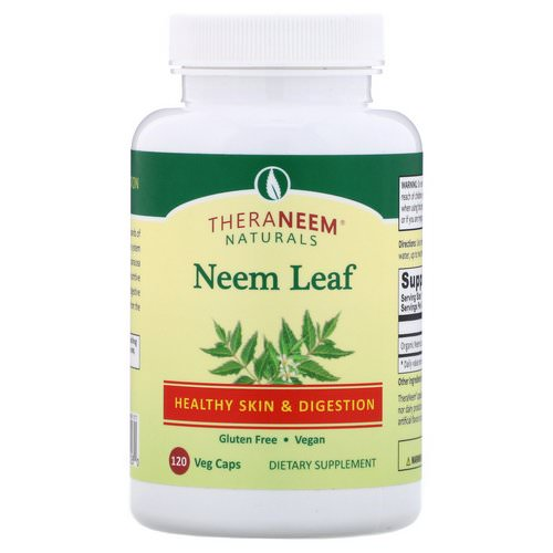Organix South, TheraNeem Naturals, Neem Leaf, Healthy Skin and Digestion, 120 Veg Caps فوائد
