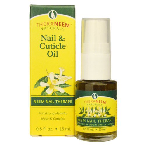 Organix South, TheraNeem Naturals, Neem Nail Therape, Nail & Cuticle Oil, 0.5 fl oz (15 ml) فوائد