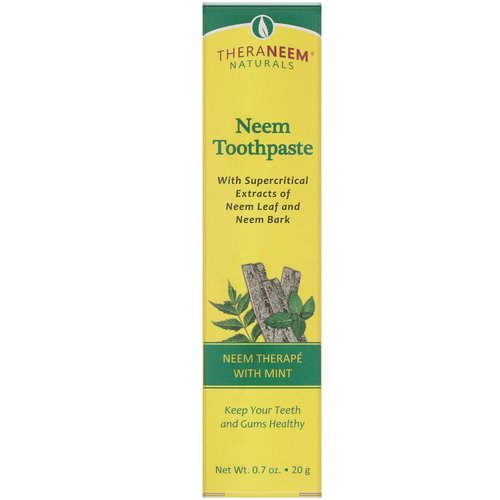 Organix South, TheraNeem Naturals, Neem Therape with Mint, Neem Toothpaste, 0.7 oz (20 g) فوائد