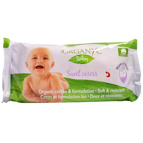 Organyc, Sweet Caress, Organic Cotton Baby Wipes, 60 Wipes فوائد
