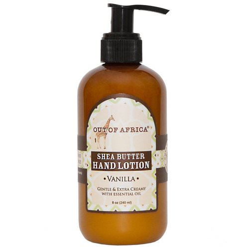 Out of Africa, Shea Butter Hand Lotion, Vanilla, 8 oz (230 ml) فوائد