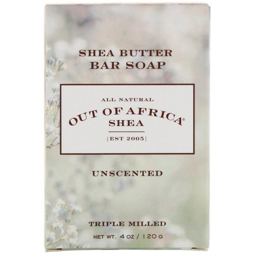 Out of Africa, Shea Butter Bar Soap, Unscented, 4 oz (120 g) فوائد