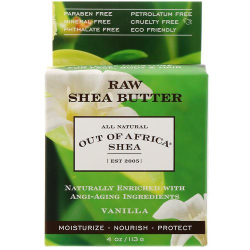 Out of Africa, Raw Shea Butter, Intense Moisture for Face, Body & Hair, Vanilla, 4 oz (113 g) فوائد