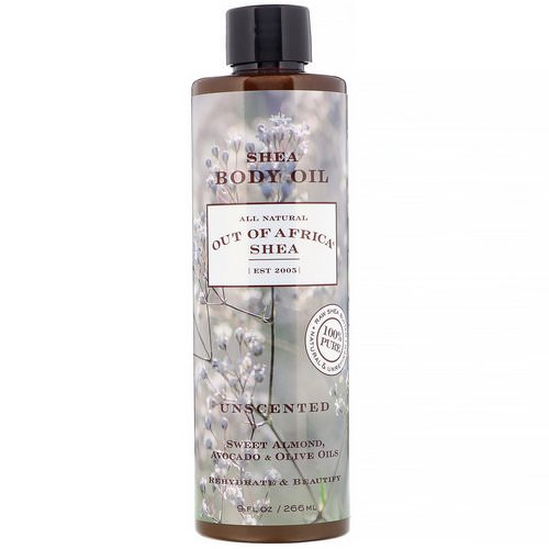 Out of Africa, Shea Body Oil, Unscented, 9 fl oz (266 ml) فوائد