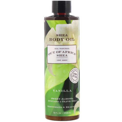 Out of Africa, Shea Body Oil, Vanilla, 9 fl oz (266 ml) فوائد