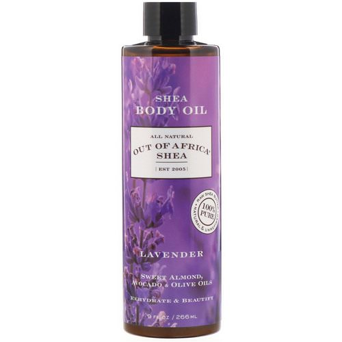Out of Africa, Shea Body Oil, Lavender, 9 fl oz (266 ml) فوائد