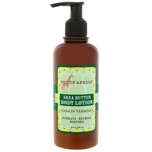 Out of Africa, Shea Butter Body Lotion, Lemon Verbena, 9 fl oz (270 ml) فوائد