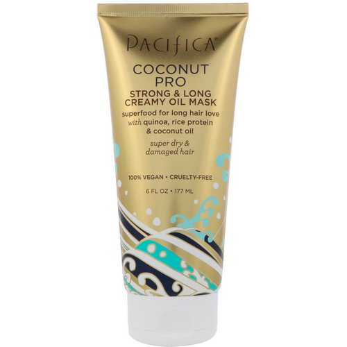 Pacifica, Coconut Pro, Strong & Long Creamy Oil Mask, 6 fl oz (177 ml) فوائد