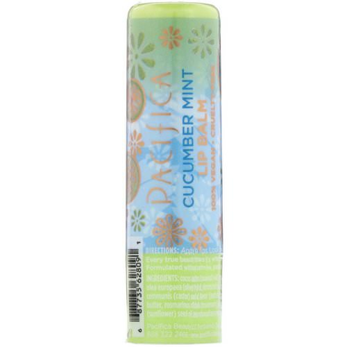 Pacifica, Lip Balm, Cucumber Mint, 0.15 oz (4.2 g) فوائد