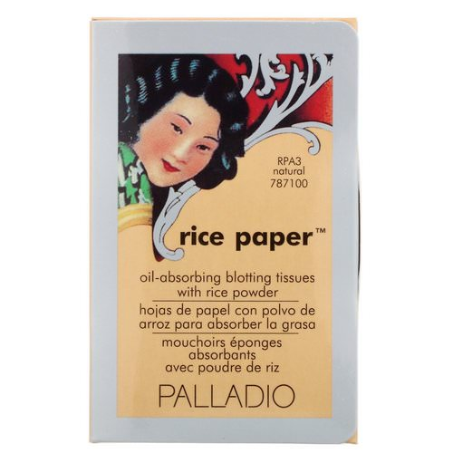 Palladio, Rice Paper, Natural, 40 Tissues فوائد