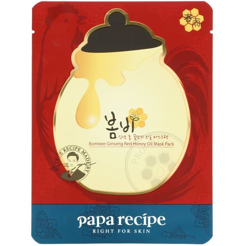 Papa Recipe, Bombee Ginseng Red Honey Oil Mask, 1 Mask, 20 g فوائد
