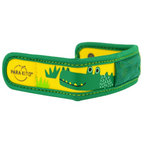 Para'kito, Mosquito Repellent Band + 2 Pellets, Kids, Crocodile, 3 Piece Set فوائد