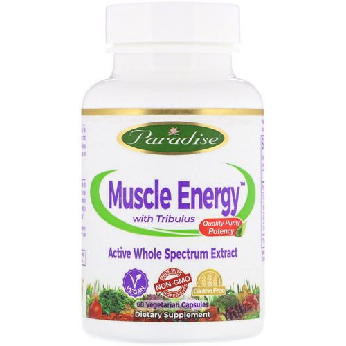 Paradise Herbs, Muscle Energy with Tribulus, 60 Vegetarian Capsules فوائد