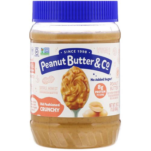Peanut Butter & Co, Old Fashioned Crunchy, 100% Natural Crunchy Peanut Butter, 16 oz (454 g) فوائد