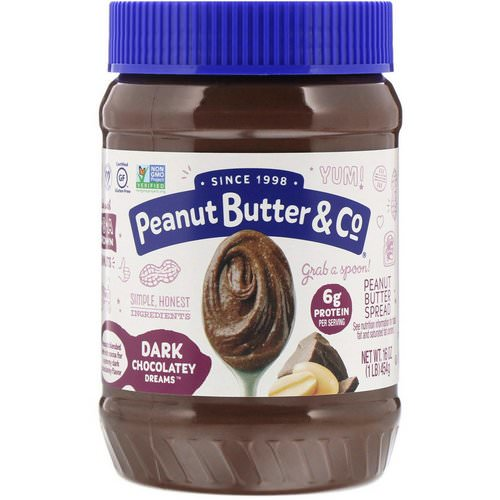 Peanut Butter & Co, Peanut Butter Blended With Rich Dark Chocolate, Dark Chocolate Dreams, 16 oz (454 g) فوائد
