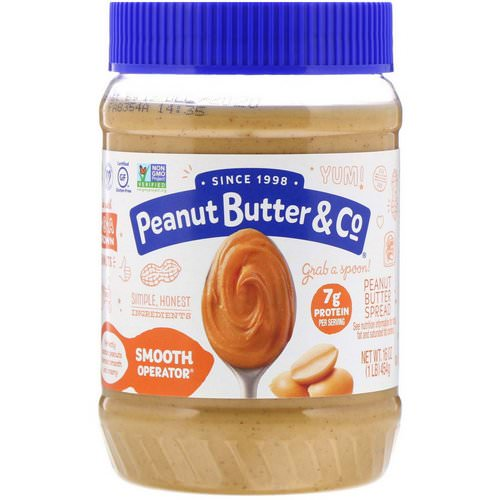 Peanut Butter & Co, Smooth Operator, Peanut Butter Spread, 16 oz (454 g) فوائد