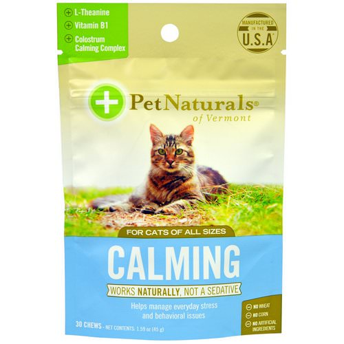 Pet Naturals of Vermont, Calming, For Cats, 30 Chews, 1.59 oz (45 g) فوائد