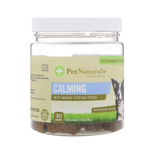 Pet Naturals of Vermont, Calming, For Medium & Large Dogs, 30 Chews, 3.39 oz (96 g) فوائد