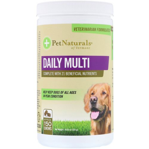 Pet Naturals of Vermont, Daily Multi, For Dogs, 18.52 oz (525 g) فوائد