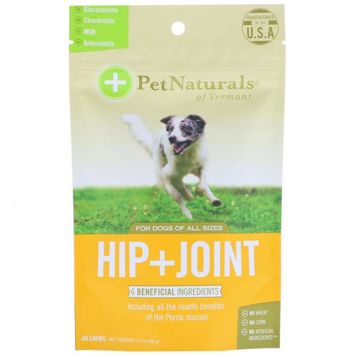 Pet Naturals of Vermont, Hip + Joint, For Dogs All Sizes, 60 Chews, 3.17 oz (90 g) فوائد