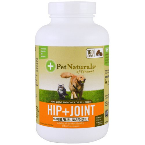Pet Naturals of Vermont, Hip + Joint, For Dogs and Cats, 160 Chews فوائد