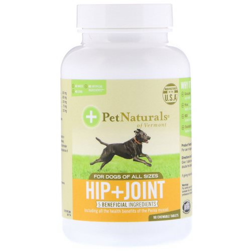 Pet Naturals of Vermont, Hip + Joint, For Dogs of All Sizes, 90 Chewable Tablets فوائد