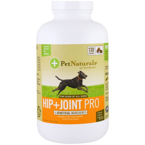 Pet Naturals of Vermont, Hip + Joint Pro, For Dogs, 130 Chews, 18.34 oz (520 g) فوائد