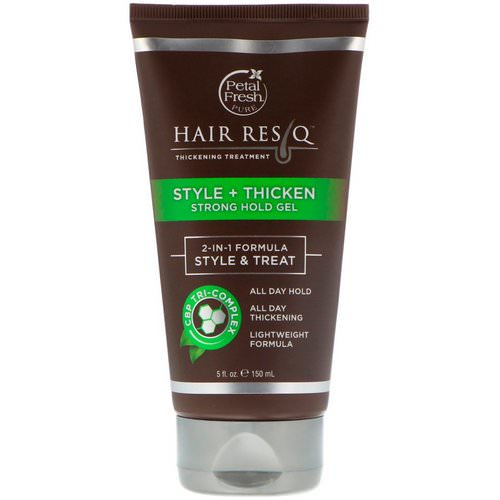 Petal Fresh, Hair ResQ, Thickening Treatment, Style + Thicken Strong Hold Gel, 5 fl oz (150 ml) فوائد