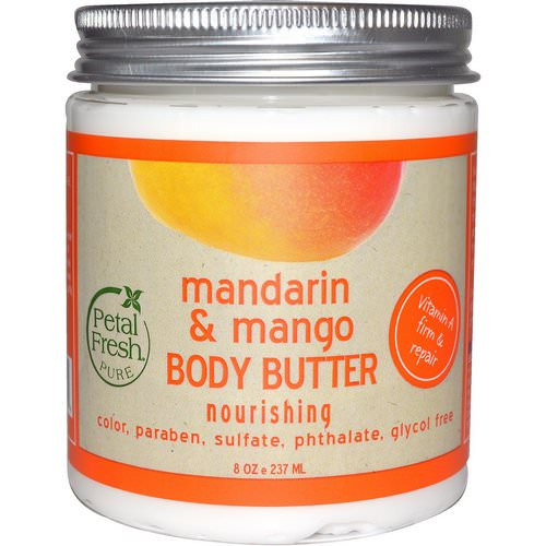 Petal Fresh, Pure, Body Butter, Nourishing, Mandarin & Mango, 8 oz (237 ml) فوائد