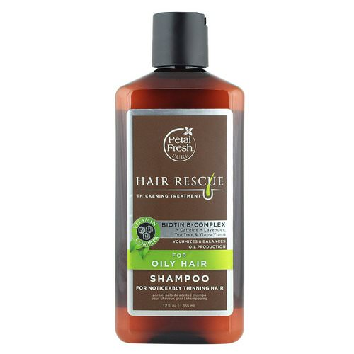 Petal Fresh, Pure, Hair Rescue, Thickening Treatment Shampoo, for Oily Hair, 12 fl oz (355 ml) فوائد