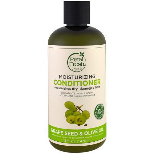Petal Fresh, Pure, Moisturizing Conditioner, Grape Seed & Olive Oil, 16 fl oz (475 ml) فوائد