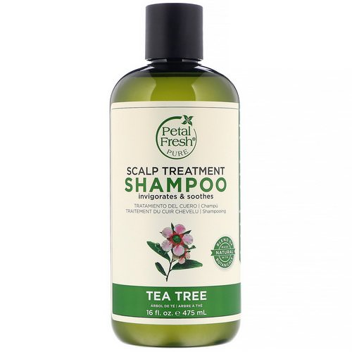 Petal Fresh, Pure, Scalp Treatment Shampoo, Tea Tree, 16 fl oz (475 ml) فوائد