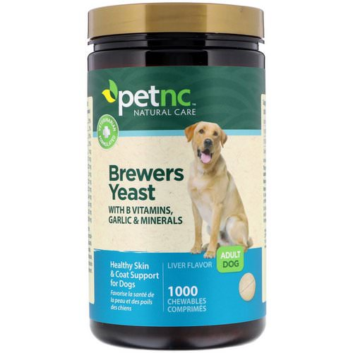 petnc NATURAL CARE, Brewers Yeast, Liver Flavor, Adult Dog, 1000 Chewables فوائد