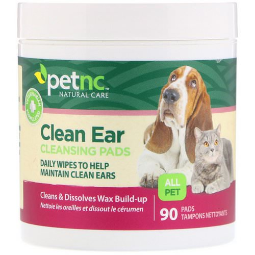 petnc NATURAL CARE, Clean Ear Cleansing Pads, For Cats and Dogs, 90 Pads فوائد