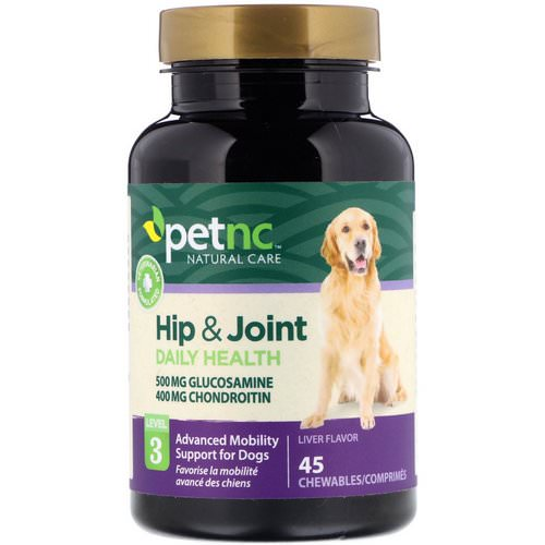 petnc NATURAL CARE, Hip & Joint, Level 3, Liver Flavor, 45 Chewables فوائد