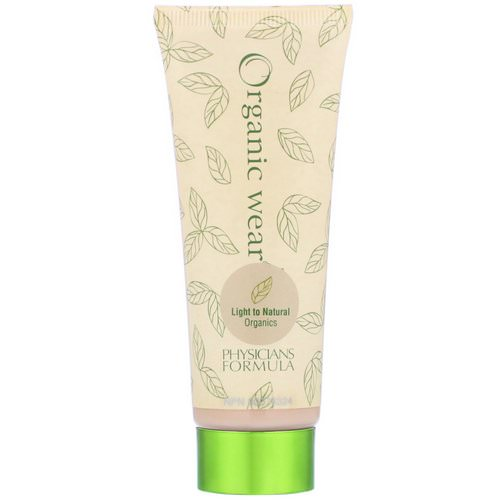 Physicians Formula, Organic Wear, Tinted Moisturizer, SPF 15, Light to Natural Organics, 1.5 fl oz (44 ml) فوائد