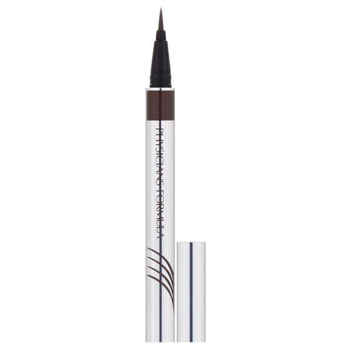 Physicians Formula, Eye Booster, Ultra Fine Liquid Eyeliner with Lash Conditioning Serum, Deep Brown, 0.016 fl oz (0.5 ml) فوائد