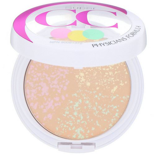 Physicians Formula, Super CC+, Color-Correction + Care, CC+ Powder, SPF 30, Light/Medium, 0.3 oz (8.5 g) فوائد