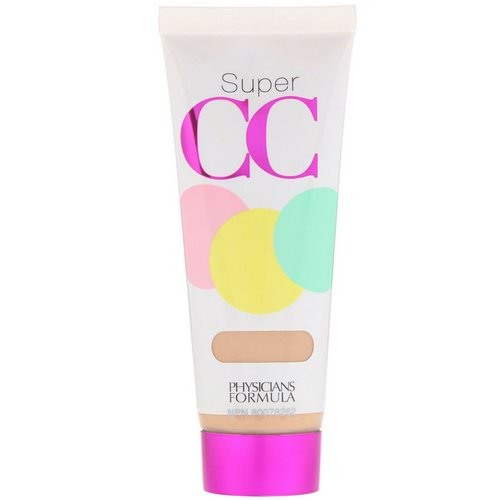 Physicians Formula, Super CC, Color-Correction + Care Cream, SPF 30, Light, 1.2 fl oz (35 ml) فوائد