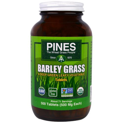 Pines International, Barley Grass, 500 Tablets فوائد