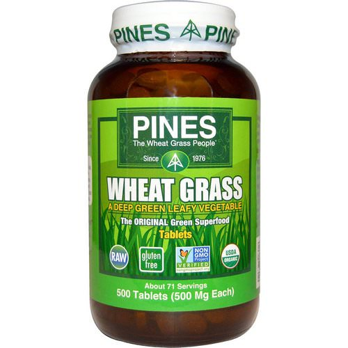 Pines International, Organic, Wheat Grass, 500 mg, 500 Tablets فوائد