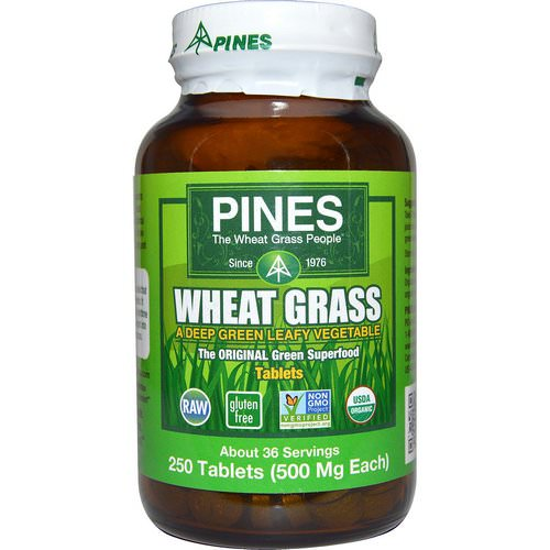 Pines International, Wheat Grass, 500 mg, 250 Tablets فوائد