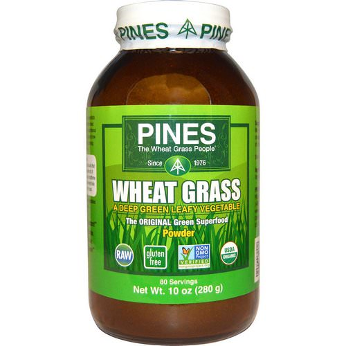 Pines International, Wheat Grass Powder, 10 oz (280 g) فوائد